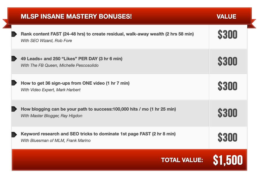 Bonuses!