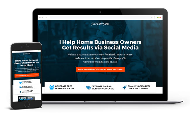 DONE FOR YOU Mini-Sales Page & Consulting Template