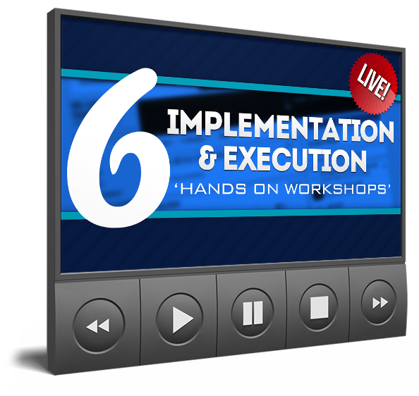 6 LIVE Implementation & Execution 'Hands-On Workshops'