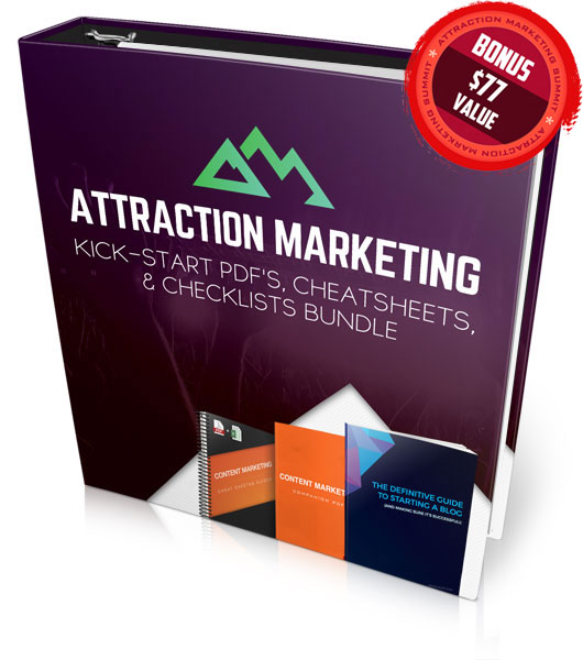 Attraction Marketing Kick-Start PDF's, Cheatsheets, and Checklists Bundle