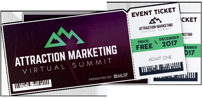Attraction Marketing Virtual Summit Ticket