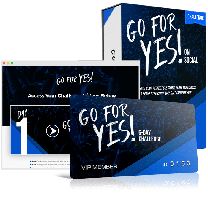 'GO FOR YES' 5-DAY CHALLENGE