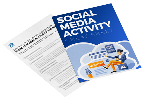 The 'Social Media Daily Activity Cheatsheet' PDF